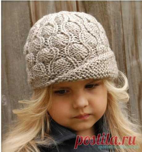 Вязанная шляпка для девочки | Что на голову?