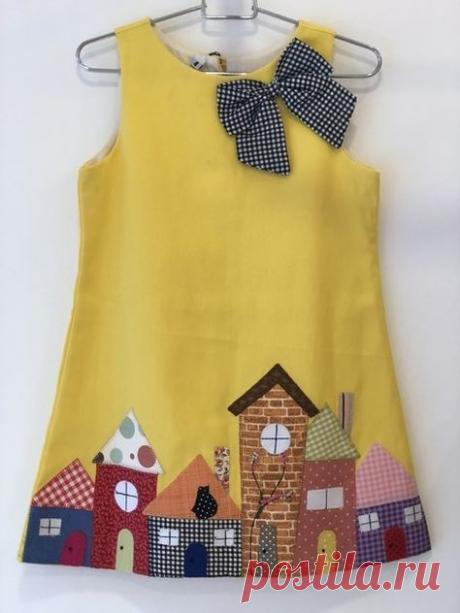 Детский сарафан - универсальная модель! Украшение вышивкой и аппликацией! Выкройки, примеры и идеи!
