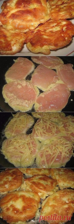 Как приготовить куриные отбивные в кляре с сыром.  - рецепт, ингредиенты и фотографии