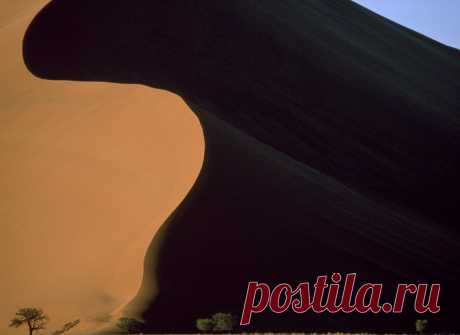 Свет и тень. Песчаные дюны Намибии.