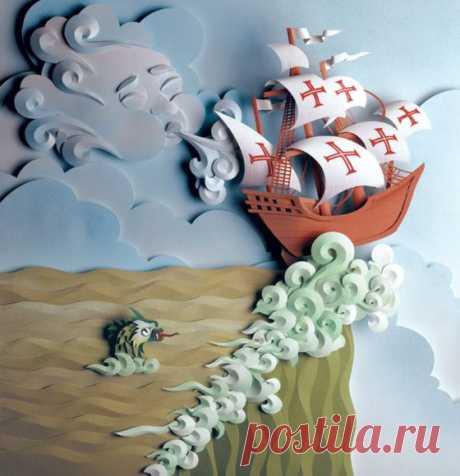 Папероль - необычное искусство создания объемных картин из бумаги Искусство создания объёмных аппликаций получило название папертоль или 3d-декупаж. Папертоль изобрели в Древней Японии. Там, как и в Китае, издавна существовал культ бумаги. Прабабушкой объемной аппликации можно считать оригами — вид декоративно–прикладного складывания различных объемных...