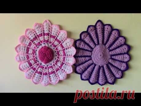 a0c2003d6 tapetes para sillas tejidos a crochet - YouTube