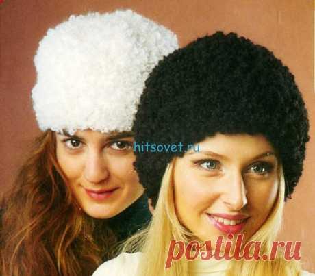Вязаная папаха - Хитсовет Вязаная папаха. Для вязания шапки папахи Вам потребуется: пряжа Davos (70% мохер, 30% полиамид, 50м/100г) 100 г черного или белого цветов, крючок №9.