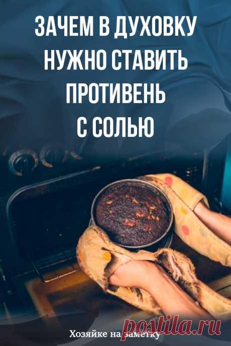 Зачем в духовку нужно ставить противень с солью