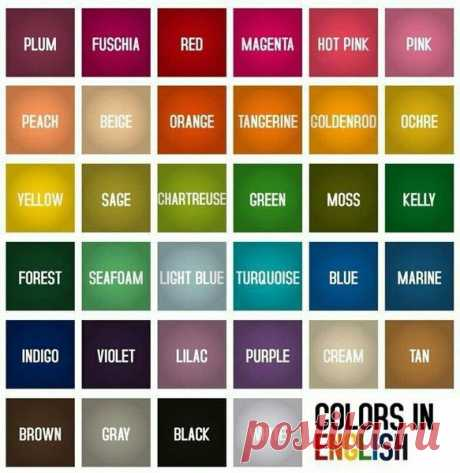 Основные цвета в английском языке | как я выучил английский | Яндекс Дзен