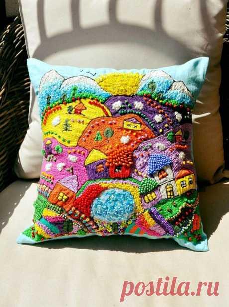 Идеи красивых диванных подушек — DIYIdeas