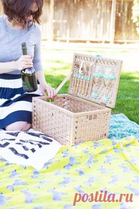 На природу: корзинки, сумки и коврики для пикника своими руками — 5 мастер-классов