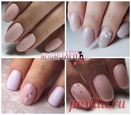 Маникюр с стиле минимализм на короткие и длинные ногти
