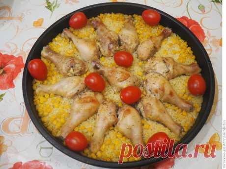 Курица с кукурузой и рисом — ужин в мексиканском стиле, попробуй!