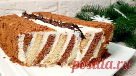 Вкуснейший торт на скорую руку за 5 минут без выпечки