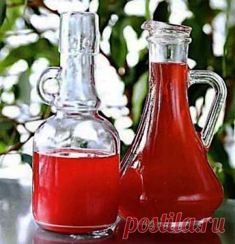 малиновый уксус применение,малиновый уксус рецепт,сделать малиновый уксус