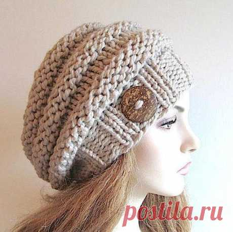 Bulky Slouch Beanie Beret Beehive Hat | Bluprint