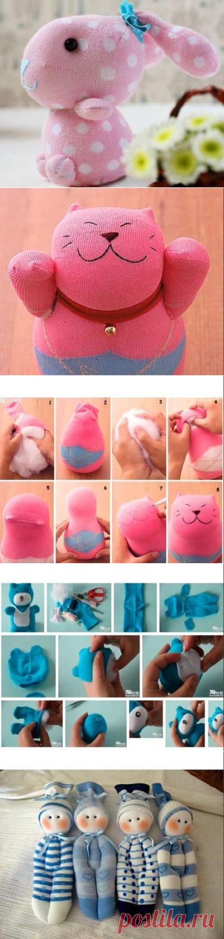 Мастерим игрушки из носков