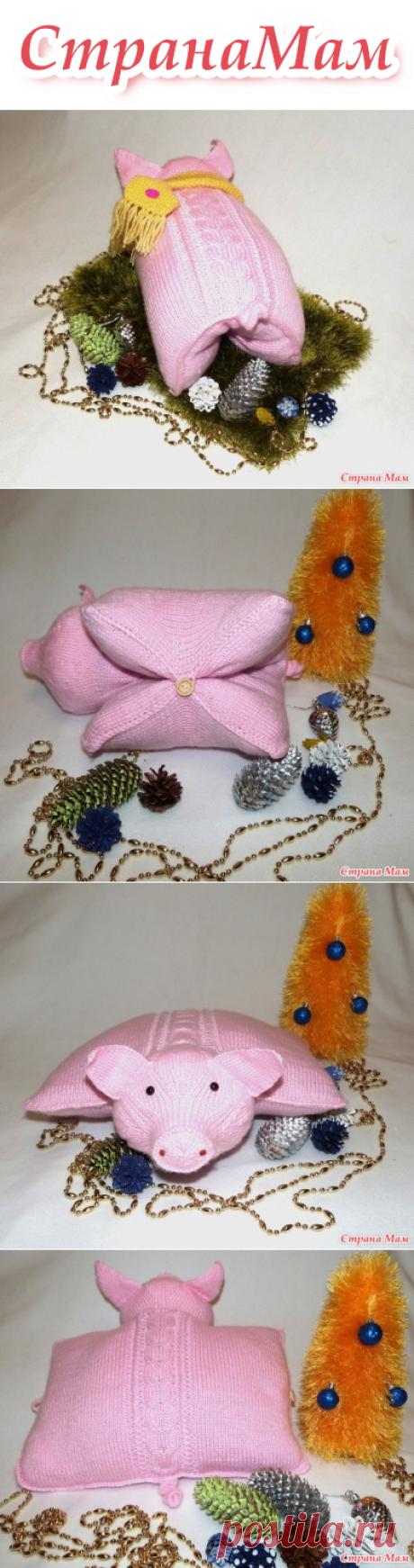 . Хрюшка-подушка к Новому году Желтой Земляной свиньи - Вязание - Страна Мам