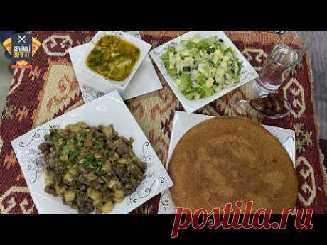 RAMAZAN 27. Gün İftar Menyusu: İçalat qovurması - Qarabaşaq Şorbası - Mannılı Piroq - Salat