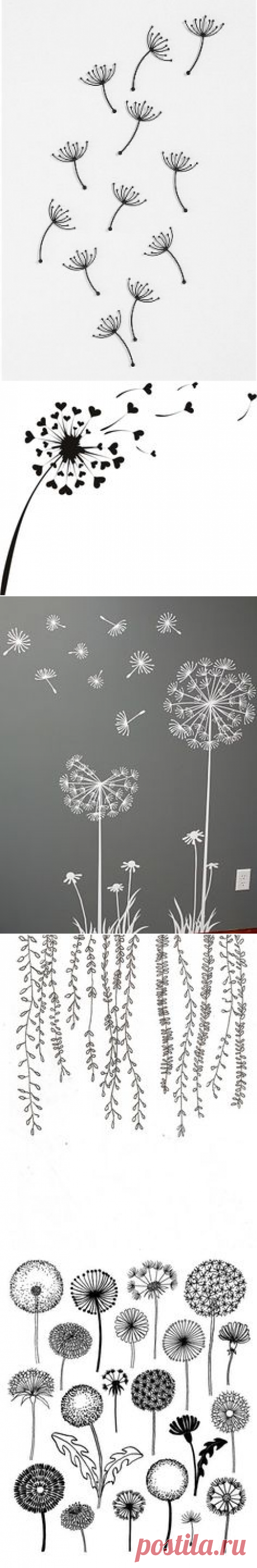 Pottery art, Wall decor and Dandelions on Pinterest