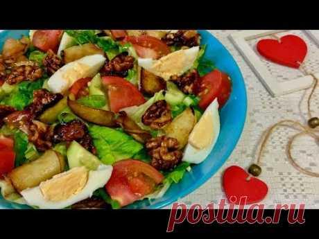 Этот салат нравится всем!!! Легкий овощной салат без майонеза! Рецепты овощных салатов.