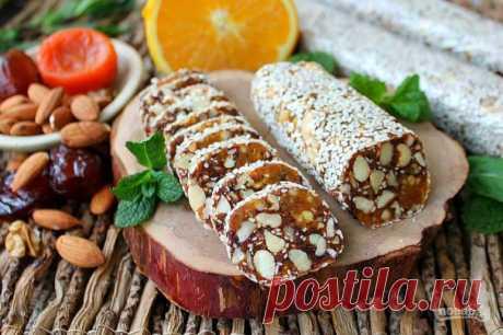Финиковая колбаска - пошаговый рецепт с фото на Повар.ру