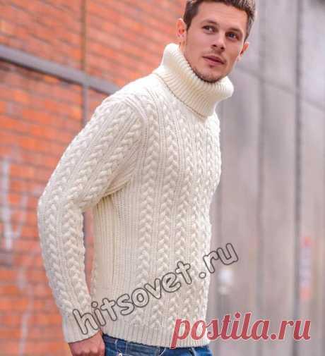 Мужской свитер вязаный - Хитсовет