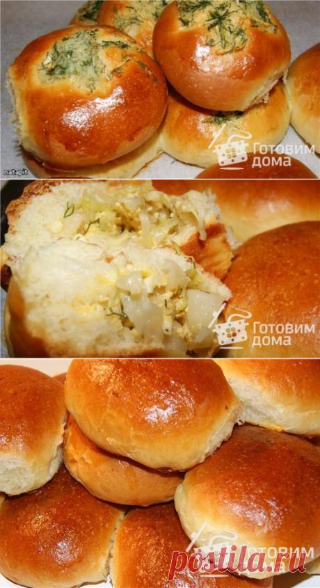 Пирожки с капустой, способ формовки - пошаговый рецепт с фото на Готовим дома