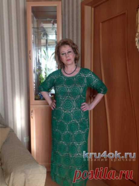 Женское платье крючком. Работа Марии Григорьевой