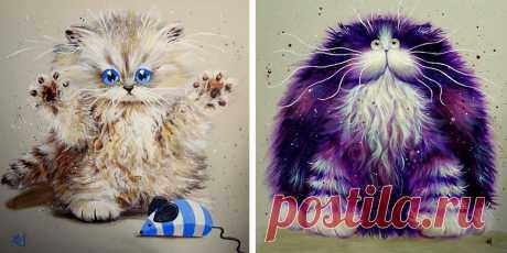 Серця цих художників належать котикам: картини пухнастих улюбленців (фото)