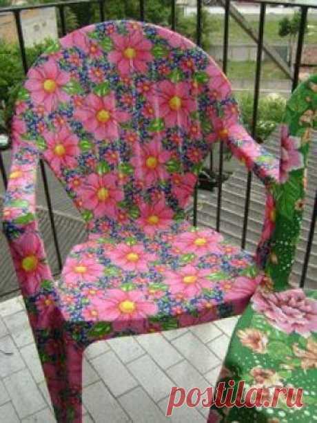 Посмотри как мастерица кардинально преобразила садовую пластиковую мебель
