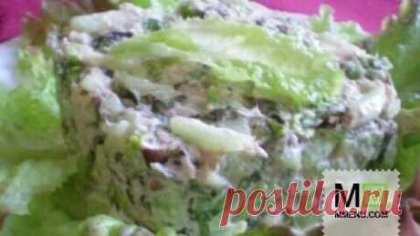 Салат с тунцом и огурцом - кулинарный рецепт. Миллион Меню
