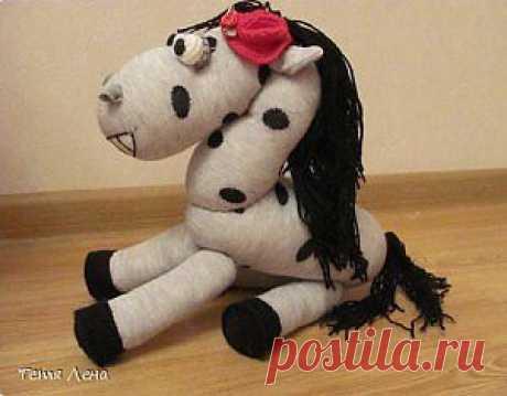 Лошадка из носка своими руками | Своими руками