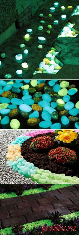 Светящиеся камни для декорирования участка | ВСЁ ДЛЯ ДОМА