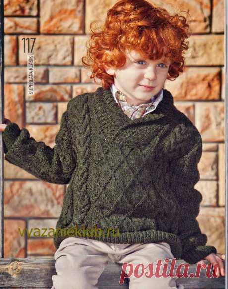 Пуловер для мальчика 4-6 лет.