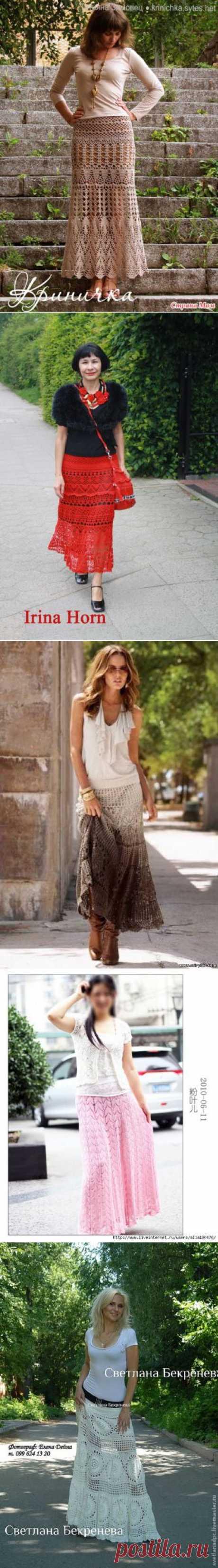 Длинные летние юбки - много и разные....