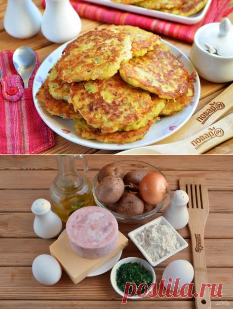 Дранички с ветчиной, сыром и зеленью - пошаговый рецепт с фото на Повар.ру