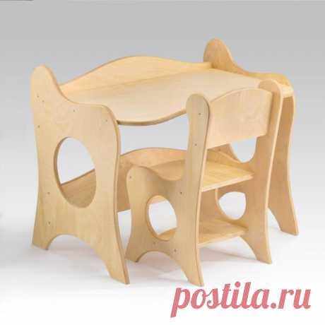 Детский столик и стульчик – купить в Чехове, цена 3800 руб., дата размещения: 26.11.2019 - Обустройство детской