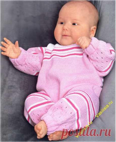 Комбинезон для новорожденного спицами выкройка, схема   Вязание спицами и крючком