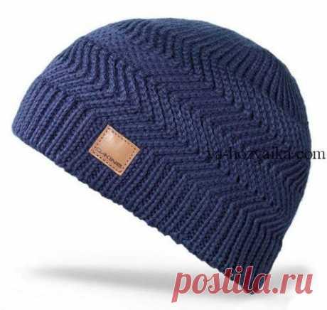 Мужская шапка спицами с описанием. Связать модную мужскую шапку спицами