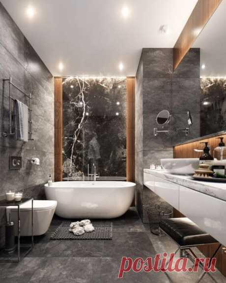 Дизайн современной ванной комнаты: 40 идей ~ ALL-DEKOR