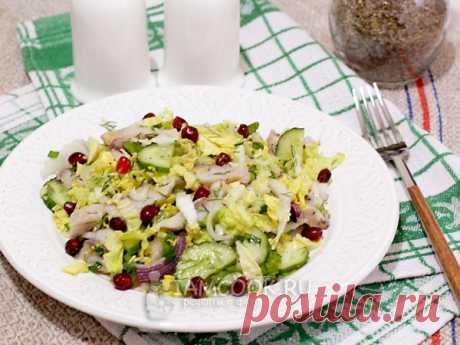 Салат из сельди и пекинской капусты — рецепт с фото Постный салат из сельди и пекинской капусты - вкуснейшее блюдо для праздничных дней поста.