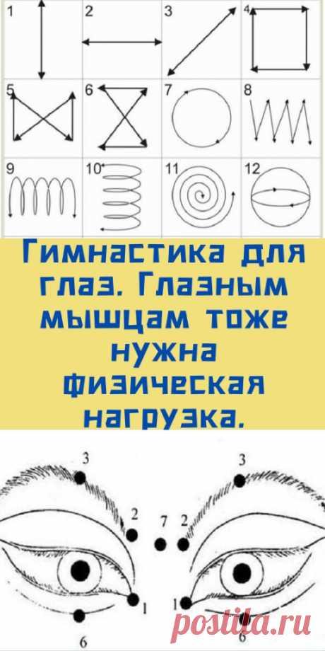 Гимнастика для глаз. Глазным мышцам тоже нужна физическая нагрузка. - likemi.ru