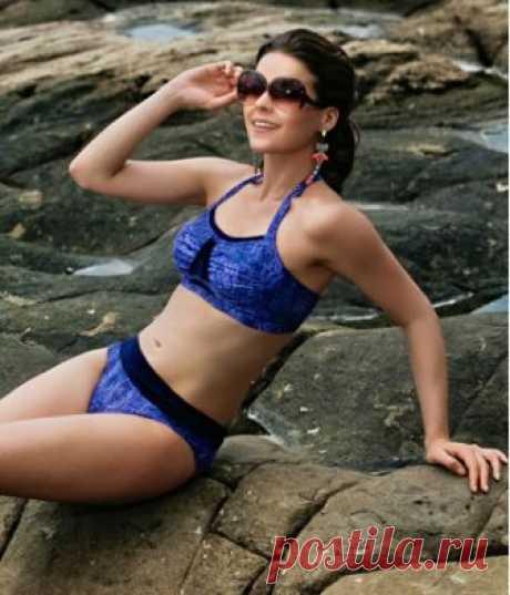 Buy The Annai Navy Blue Halter Neck Bikini   Jamu Australia