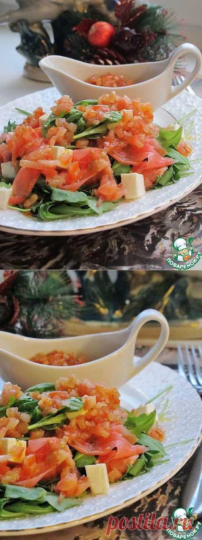 Салат с рукколой, лососем и имбирем - кулинарный рецепт