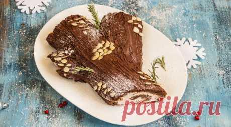 Рождественское полено с малиной и маскарпоне , пошаговый рецепт с фото