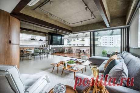 Реконструкция квартиры для молодой пары в Бразилии . Тут забавно !!!