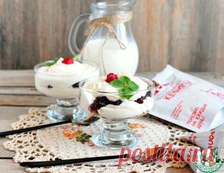 """Крем """"Кефир-зефир"""" – кулинарный рецепт"""