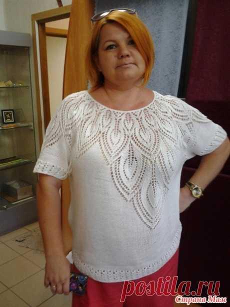 La blusa por los rayos - la Labor de punto - el País de las Mamás