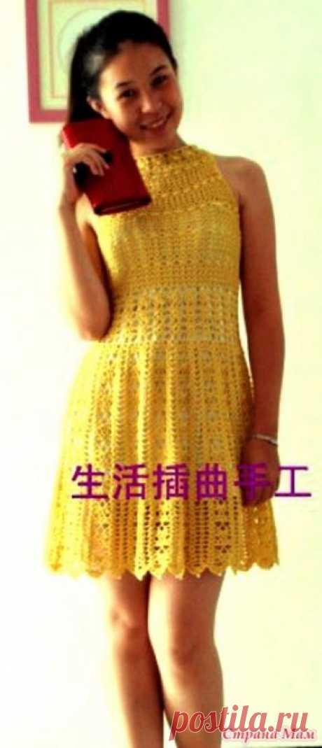 . Ажурное платье с американской проймой. Очередной шедевр от китайской мастерицы. Вечернее платье с американской проймой.