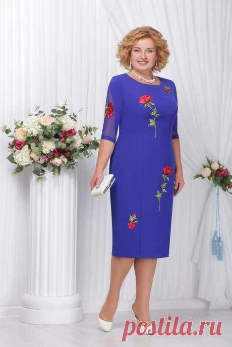 Нарядные платья для полных женщин белорусского бренда Ninele осень-зима 2017-2018 (50 фото)