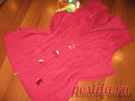 Выполнение прорезной горизонтальной петли для пуговиц - knitting-pro.ru - От азов к мастерству