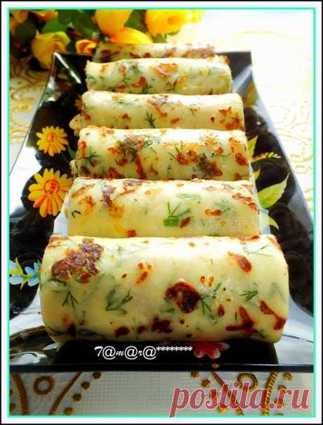 Сырные блины с зеленью – пошаговый рецепт с фотографиями