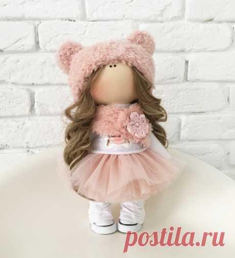 """Авторская кукла """"Розовый плюш"""" Handmade  для девочки 4435740, купить за 6 290 руб. в интернет-магазине Berito"""